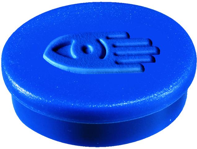 Magnet, rund, Ø: 30 mm, Haftkraft: 850 g, blau