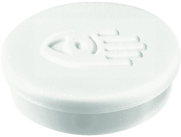 Magnet, rund, Ø: 30 mm, Haftkraft: 850 g, weiß