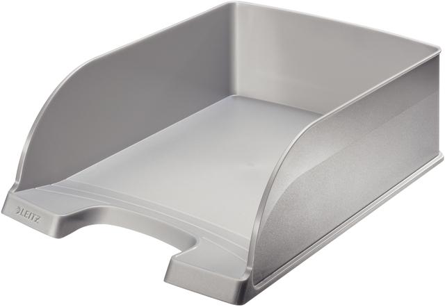 Briefkorb Jumbo Plus, PS, A4, 255 x 360 x 103 mm, silber