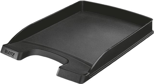 Briefkorb Plus, PS, A4, 255x360x37mm, schwarz