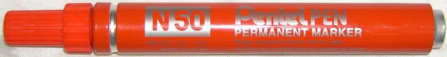 Permanentmarker N50, Einweg, Rundspitze, 2 mm, Schreibf.: rot