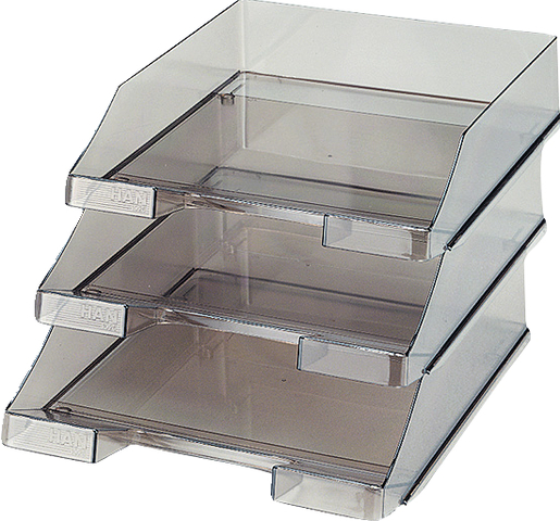 Briefkorb, PS, C4, 255x348x65mm, rauchtopas, transparent