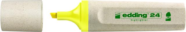Textmarker 24, nachfüllbar, Keilspitze, 2 - 5 mm, Schreibf.: gelb