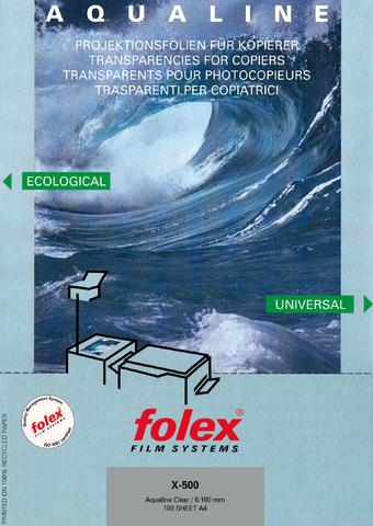 Kopierfolie X-500 AQUALINE, A4, 0,1mm, klar