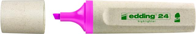 Textmarker 24, nachfüllbar, Keilspitze, 2 - 5 mm, Schreibf.: rosa