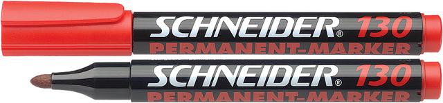 Permanentmarker Maxx 130, Rundspitze, 1-3mm, Schreibf.: rot