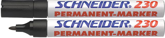 Permanentmarker 230, Rsp., 1-3mm, Schreibf.: sw