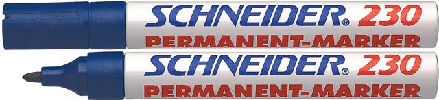 Permanentmarker 230, Rsp., 1-3mm, Schreibf.: blau