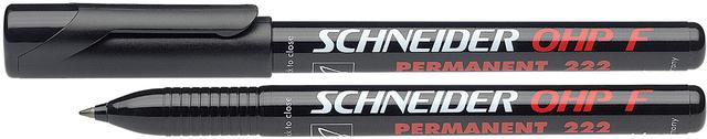 OH-Stift, 222, F, permanent, 0,7 mm, Schreibf.: schwarz