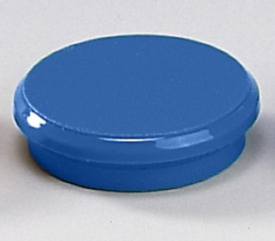 Magnet, rund, Ø: 24 mm, Haftkraft: 300 g, blau