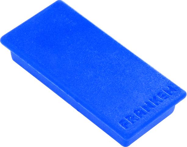 Magnet, rechteckig, 23 x 50 mm, Haftkraft: 1.000 g, blau
