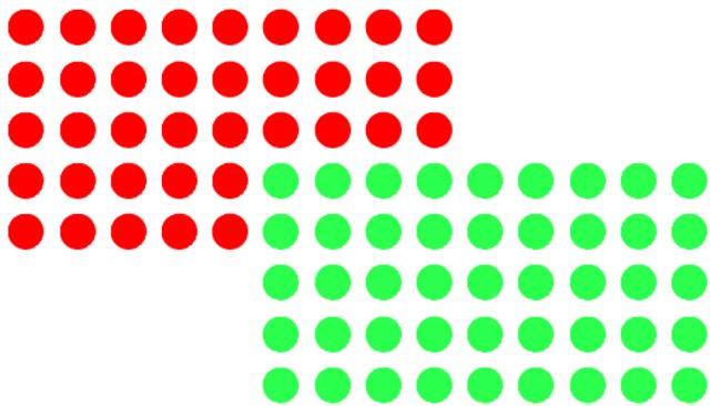 Markierungspunkt, selbstklebend, 19 mm, rot/grün