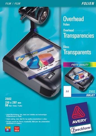 Inkjetfolie, A4, 0,11mm, farbl., klar