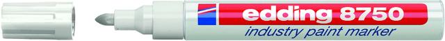 Lackmarker 8750 Industry, Rundspitze, 2 - 4 mm, Schreibf.: weiß