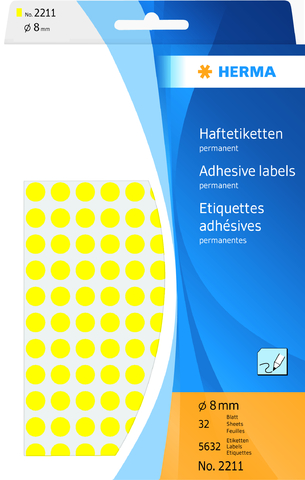 Markierungspunkt, Handbeschriftung, sk, Ø: 8 mm, gelb