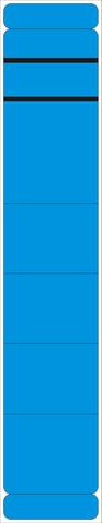 Rückenschild, selbstklebend, Papier, schmal / kurz, 39x190mm, blau