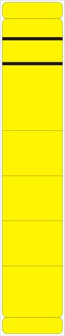 Rückenschild, selbstklebend, Papier, schmal / kurz, 39x190mm, gelb