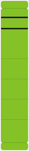 Rückenschild, selbstklebend, Papier, schmal / kurz, 39x190mm, grün