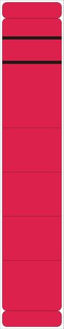 Rückenschild, selbstklebend, Papier, schmal / kurz, 39x190mm, rot