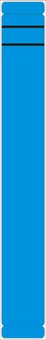Rückenschild, selbstklebend, Papier, schmal / lang, 39x289mm, blau