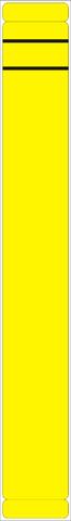 Rückenschild, selbstklebend, Papier, schmal / lang, 39x289mm, gelb