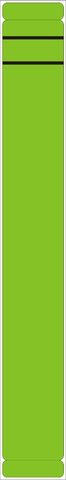 Rückenschild, selbstklebend, Papier, schmal / lang, 39x289mm, grün