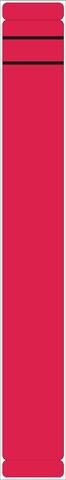 Rückenschild, selbstklebend, Papier, schmal / lang, 39x289mm, rot