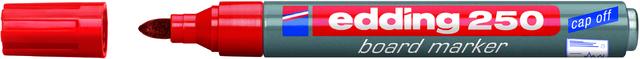 Boardmarker 250, nachfüllbar, Rundspitze, 1,5-3 mm, Schreibf.: rot