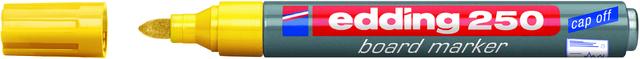 Boardmarker 250, Einweg, Rundspitze, 1,5-3 mm, Schreibf.: gelb