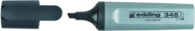 Textmarker 345, kopierfähig, Keilspitze, 2 - 5 mm, Schreibf.: grau