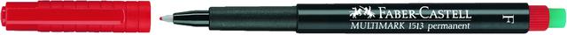 OH-Stift MULTIMARK, F, permanent, 0,6mm, Schreibf.: rot