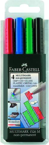 OH-Stift MULTIMARK, M, non-permanent, 1mm, Schreibf.: 4er sortiert