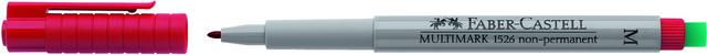 OH-Stift MULTIMARK, M, non-permanent, 1mm, Schreibf.: rot