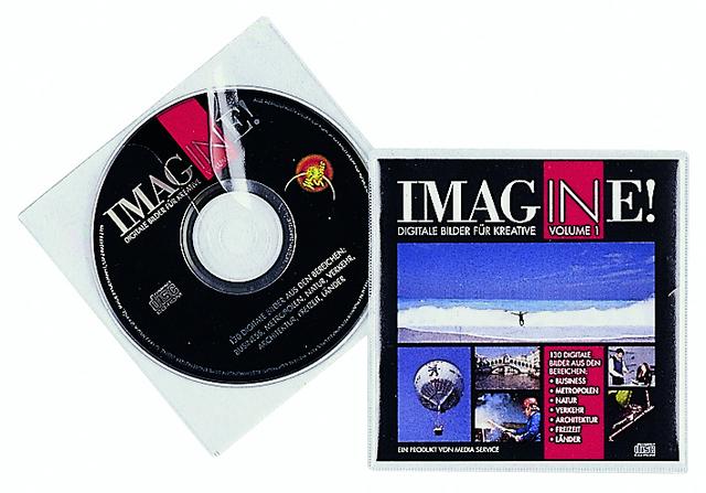 CD-Hülle, PP, für: 2CDs, farbl.