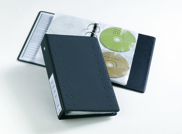 CD-Ringbuch INDEX 20, A5, Kst., 185x55x273mm, für: 20CDs, anthr.