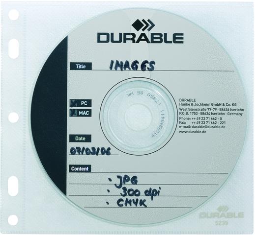 CD-Hülle, zum Abheften, PP, für: 1CD, farbl., tr