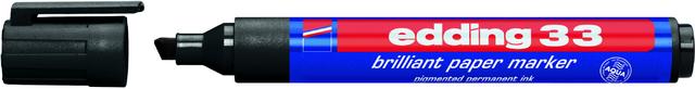 Pigmentmarker 33, nachfüllbar, Keilspitze, 1-5mm, Schreibf.: schwarz
