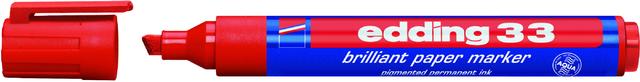 Pigmentmarker 33, nachfüllbar, Keilspitze, 1-5mm, Schreibf.: rot