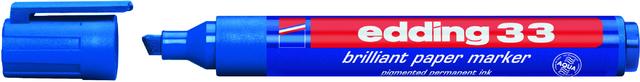 Pigmentmarker 33, nachfüllbar, Keilspitze, 1-5mm, Schreibf.: blau