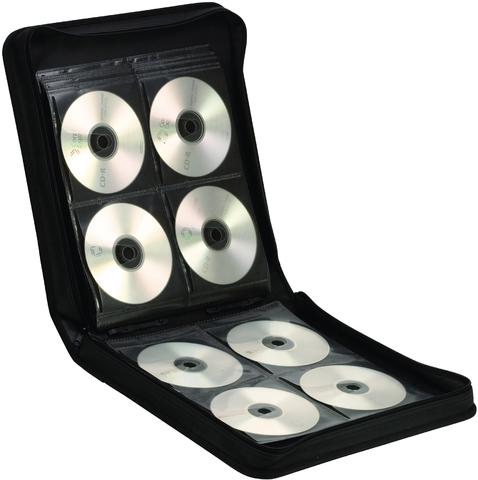 CD-Tasche Premium, mit Tragegriff, für: 144CDs, sw