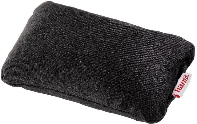 Handgelenkauflage, Kunststoffperlen, für Maus, 12 x 8,5 cm, schwarz