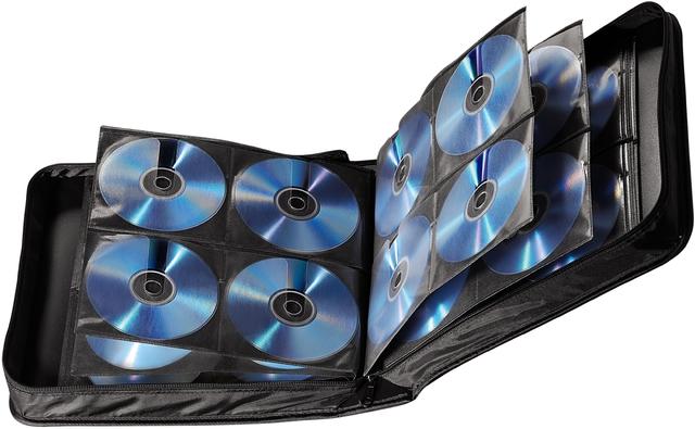 CD-Tasche, Ny, 304x320x90mm, für: 208CDs, sw
