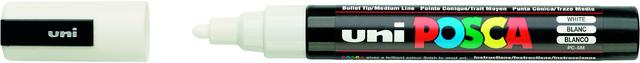 Permanentmarker, PC-5M, POSCA, Rsp., 2,5 mm, Schreibf.: weiß