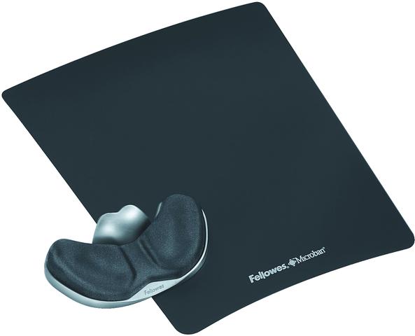Mauspad Health-V™, mit Handgelenkauflage, 23 x 28 cm, 35 mm, graphit
