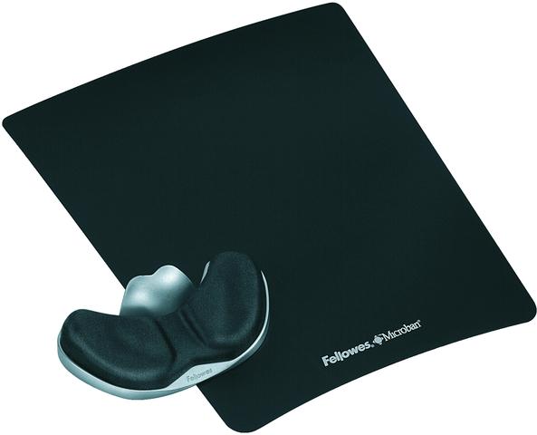 Mauspad Health-V™, mit Handgelenkauflage, 23 x 28 cm, 35 mm, schwarz