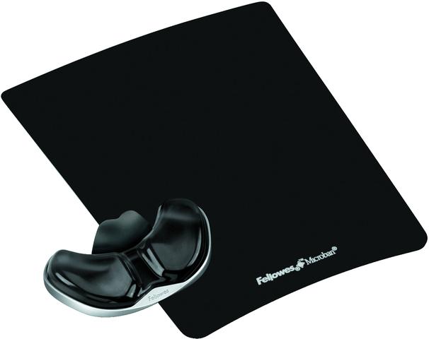 Mauspad Health-V™ Crystals™, mit Handgelenkauflage, schwarz
