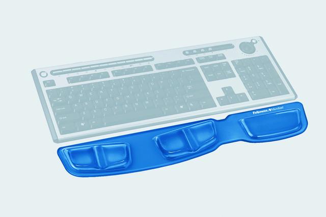 Handgelenkauflage Health-V™ Crystals™, Gel, für Tastatur, blau