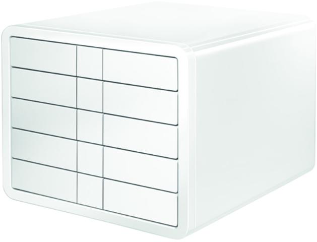 Schubladenbox iBox, PS, m. 5 geschl. Schubladen, C4, weiß, hochgl.