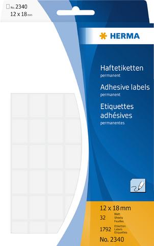 Etikett, Handbeschriftung, sk, Spezialpapier, 12 x 18 mm, weiß