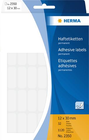 Etikett, Handbeschriftung, sk, Spezialpapier, 12 x 30 mm, weiß